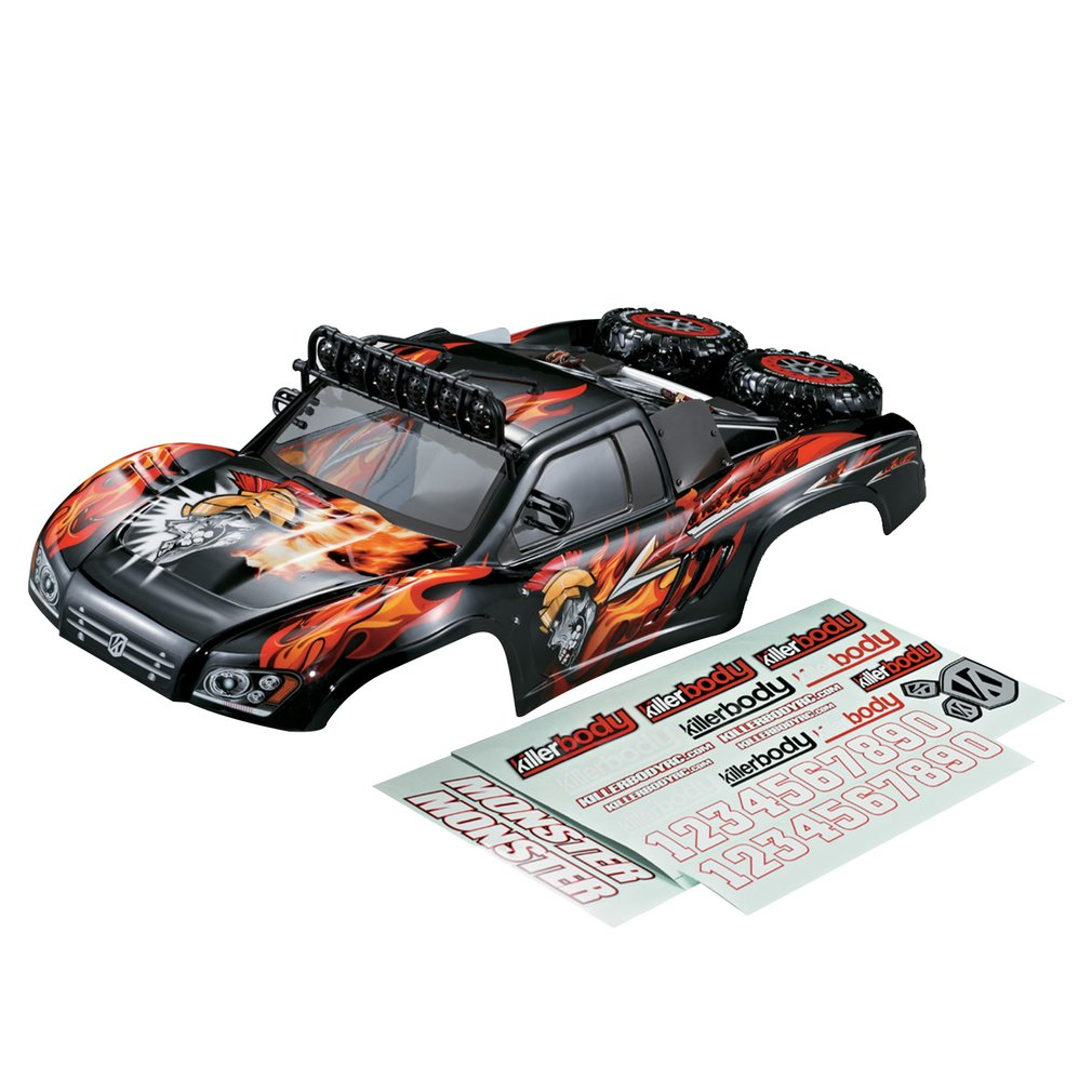 Killerbody Short Course Truck MONSTER RC Car Body Shell Frame Kit for 1/10 Electric Touring Car RC Racing Car Shell DIY Parts