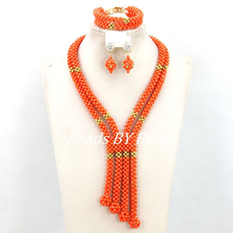 Trendy Coral Beads Necklace Set Nigerian Wedding Beads African Jewelry Set Women Costume Jewelry Set Free Shipping ABY788Trendy Coral Beads Necklace Set Nigerian Wedding Beads African Jewelry Set Women Costume Jewelry Set Free Shipping ABY788
