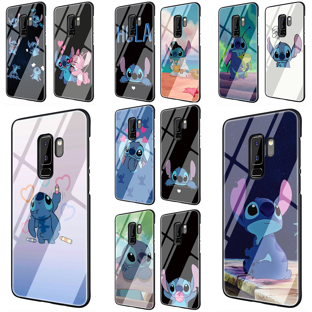 Stich Tempered Glass Phone Cover Case for Samsung Galaxy S7 edge S8 9 10 Note 8 9 10 Plus A10 20 30 <font><b>40</b></font> <font><b>50</b></font> <font><b>60</b></font> 70 image