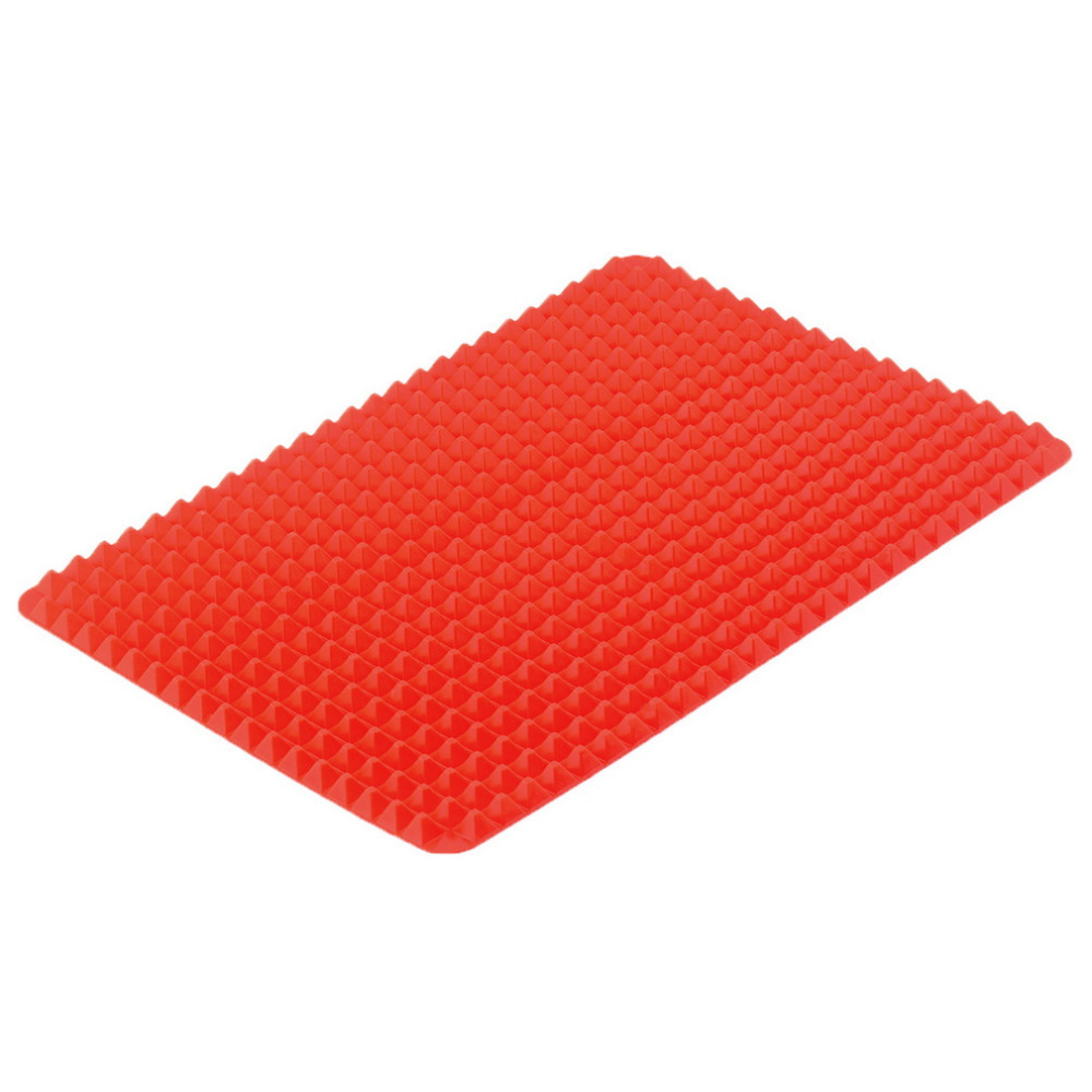 home use red pyramid bakeware pan nonstick silicone baking mats pads moulds cooking mat oven. Black Bedroom Furniture Sets. Home Design Ideas
