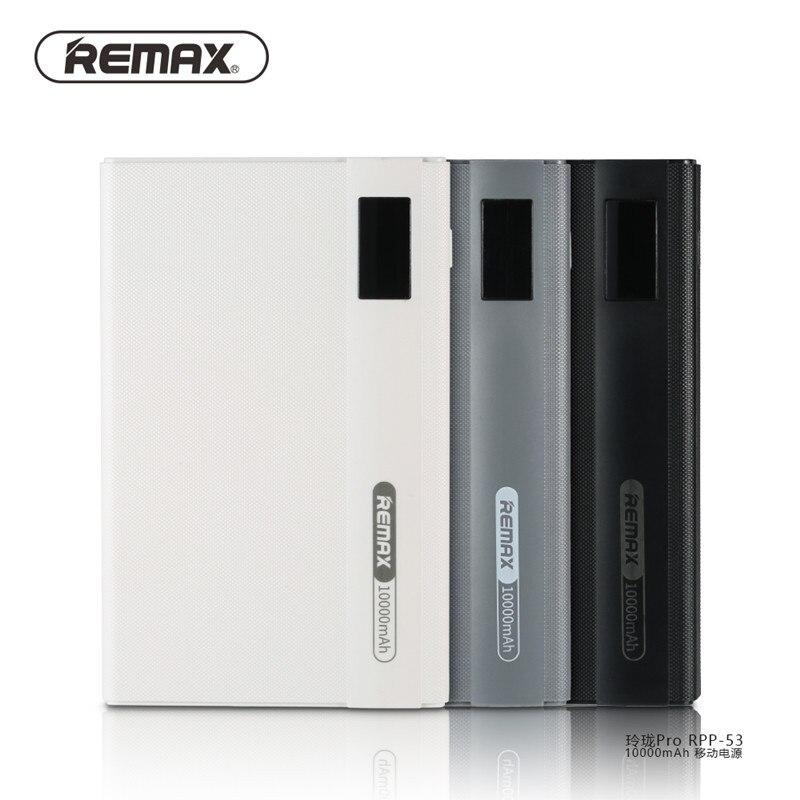 imágenes para 100% original remax teléfonos móviles banco de la energía 10000 mah 2 usb cargador de batería externo universal de la energía bank 10000 mah