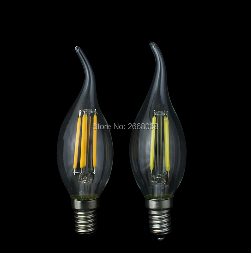 E14 Dimmable LED Filament Bulb Lamp Nostalgic Edison Style 2W 4W LED Light Bulb to Replace 40W Incandescent Bulb 360 Beam Angle 5pcs e27 led bulb 2w 4w 6w vintage cold white warm white edison lamp g45 led filament decorative bulb ac 220v 240v