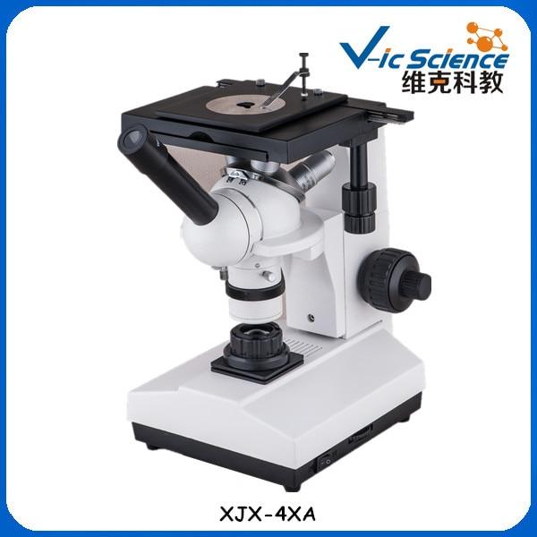 цена на XJX-4XA Monocular Head Inverted Metallurgical Microscope