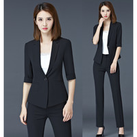 Pantsuits Black Blazer Women Business Suits Formal Office Suits Work Wear Uniforms Ladies Pant and Jacket Sets