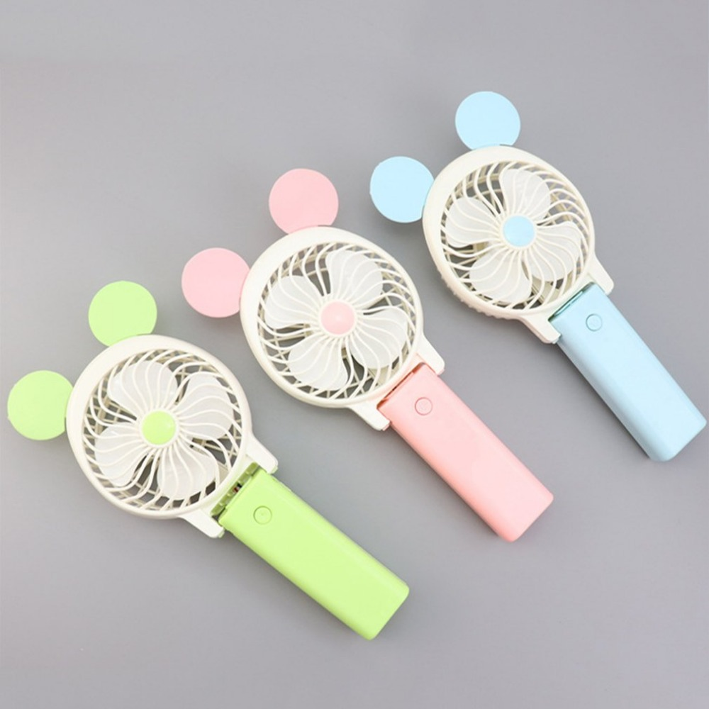 Portable Hand Fan USB Rechargeable Foldable Handheld Mini Fan Cooler with Strap Cartoon Cooling Fan for Outdoor Travel portable hand fan usb rechargeable foldable handheld mini fan cooler 3 speed adjustable cooling fan outdoor travel air cooler
