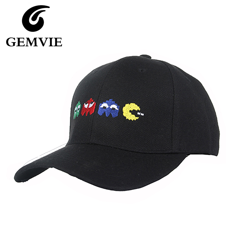 Cotton Hats Cartoon Embroidery Punk Baseball Caps Casual Basketball Hat For Women And Men Black Pink Snapback Cap