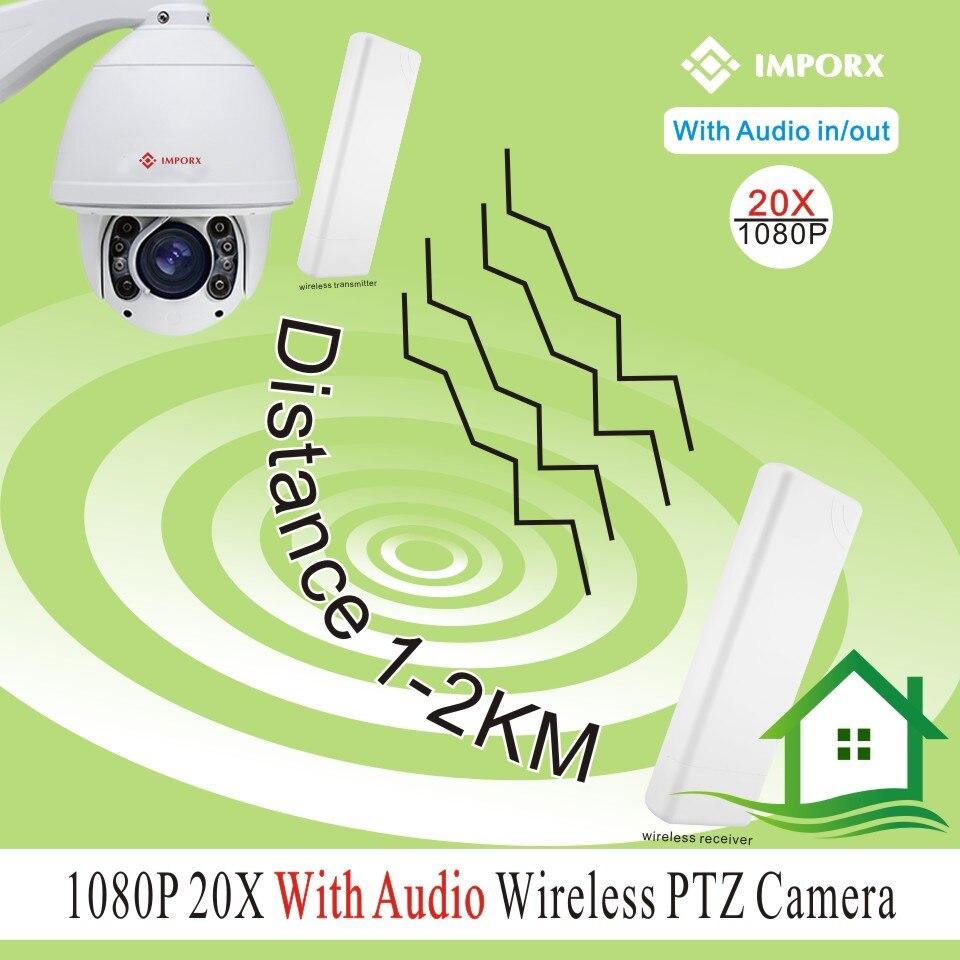 20X Optical Zoom wireless High Speed Dome Camera Outdoor PTZ IP wifi Network Camera Audio alarm can send from EU cap eu to send carp
