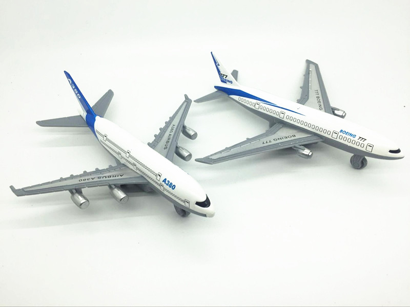 Aircraft model Alloy materials kids toys Airbus A380 Boeing 777