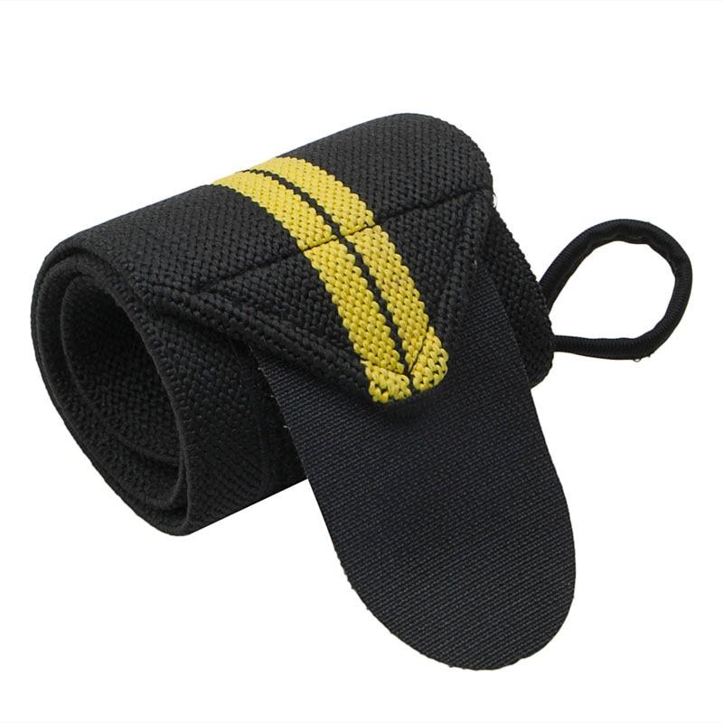 Спортивный ремешок на запястье для тяжелой атлетики, фитнес-зал, повязка на руку, поддерживающий браслет, распродажа - Цвет: 2S10038-BKY