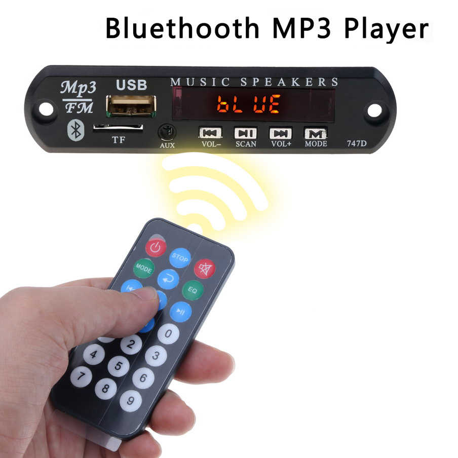 KEBIDU 12V Bluetooth MP3 WMA Scheda di Decodifica Audio a Bordo del Modulo USB TF Radio Lettore MP3 con Telecomando Senza Fili di Controllo per Auto