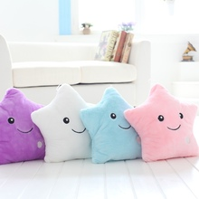цены Glowing Colorful Star Led Luminous Pillow Led Light Stuffed Star Pillow Plush Soft Cushion Kids Toys Party Birthday Gift Home