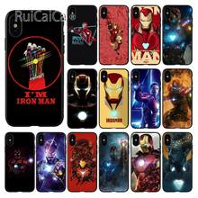 Ruicaica Marvel Avengers Endgame I'M ironman Customer Quality Phone Case for iPhone X XS MAX 6 6s 7 7plus 8 8Plus 5 5S SE XR(China)