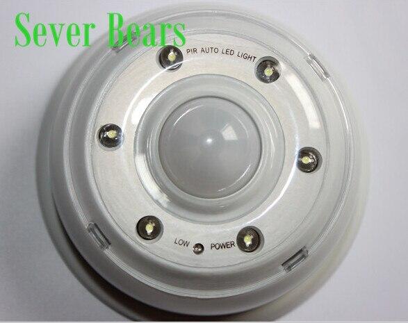 6 LED PIR Infrared Detection Auto Motion Sensor Wireless Home Door Keyhole Light Lamp brightness adjustable