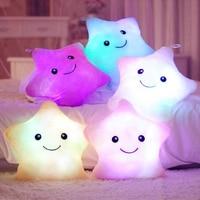 1 Piece 40 35cm Stuffed Dolls Square Bear Star Heart Bear Sole Light Colorful Pillows Cushion