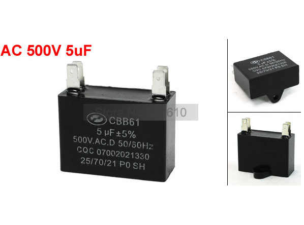Best Promotion Wholesale Price 5uF AC 500V 50/60Hz Air Conditioner Fan 4  Pins Motor Capacitor 5PCS/lot