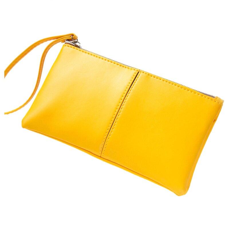 Hot Fashion Women Leather Long Bifold Purse Zipper Clutch Mini Handbag Wallet Girl Card Bag 5 Candy Colors