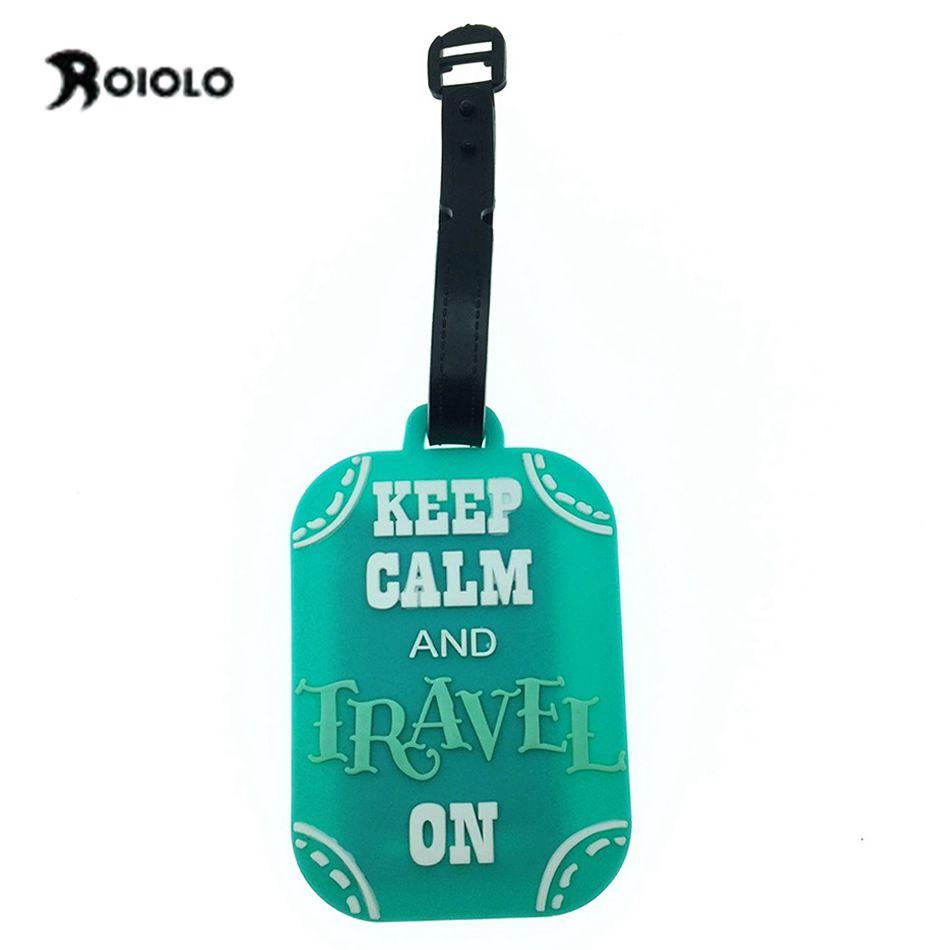 Special Letter Luggage Tags Travel Accessories Boarding Tag Straps Suitcase Baggage etichetta valigia Portable Label viaje