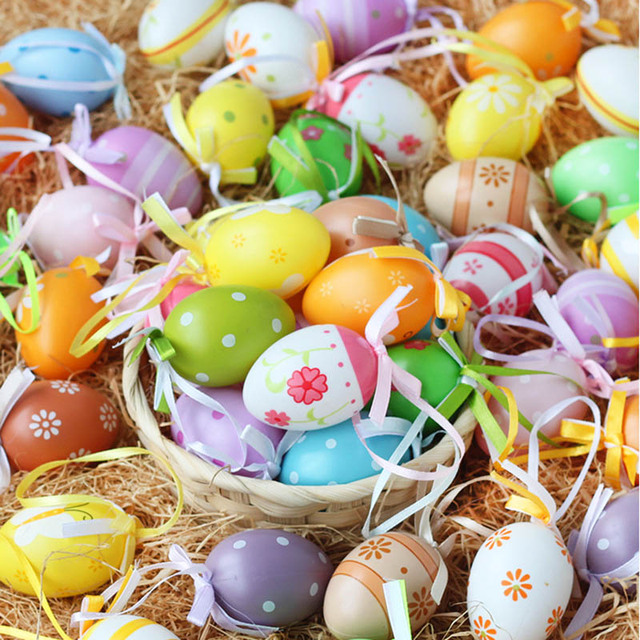 6pcs Happy Easter eggs-Easter Decor items