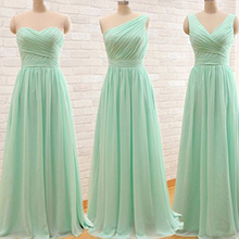 mint bridesmaid dresses 2018 different style pleats chiffon long maid of  honor dresses wedding party dresses 811796bed41a