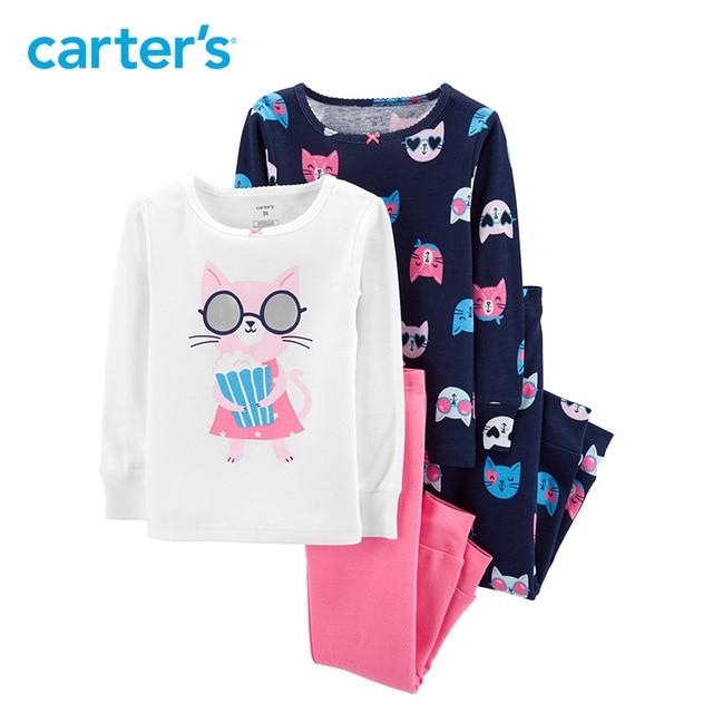 ef8921716 Carters pajama sets 4 Piece Cat Snug Fit Cotton PJs Cartoon print ...