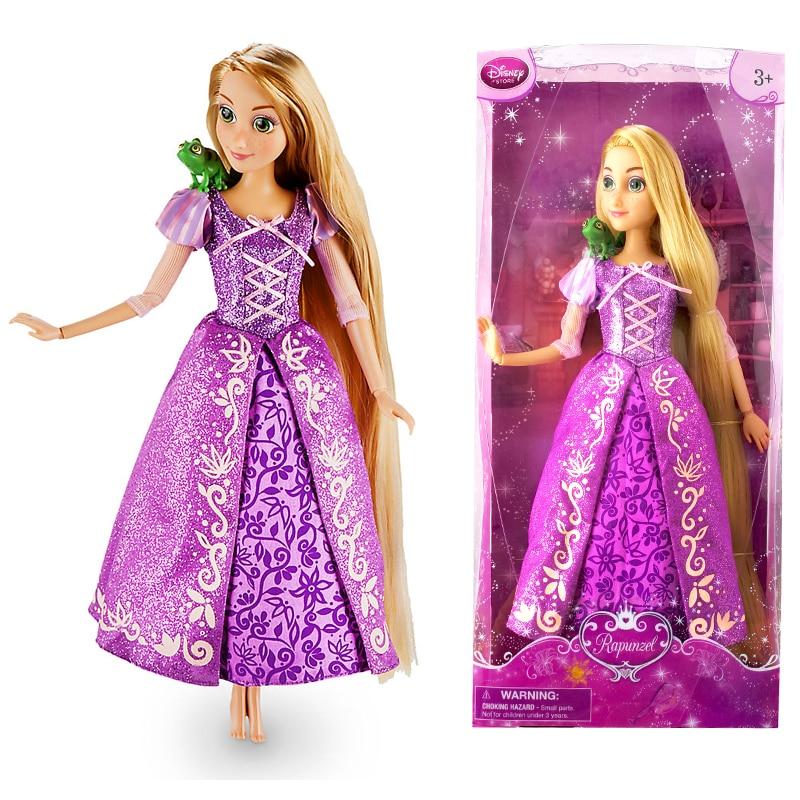 Original DISNEY Store Little Ariel Classic princess Doll with Flounder Figure 12 girl gift