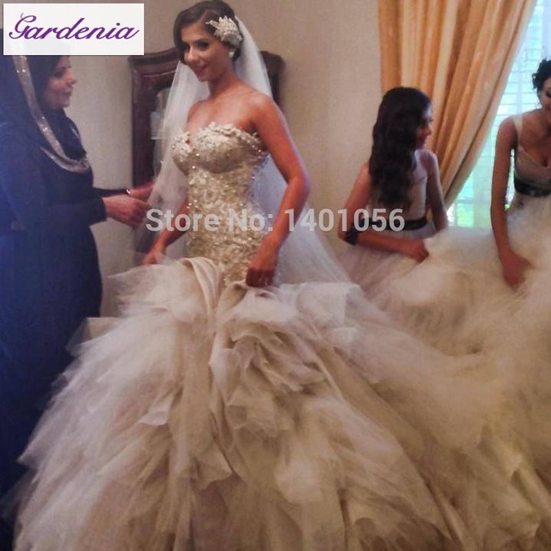 Arabia Bridal Gown Grogeous Cathedral Bridal Gowns Elegant Vestido ...