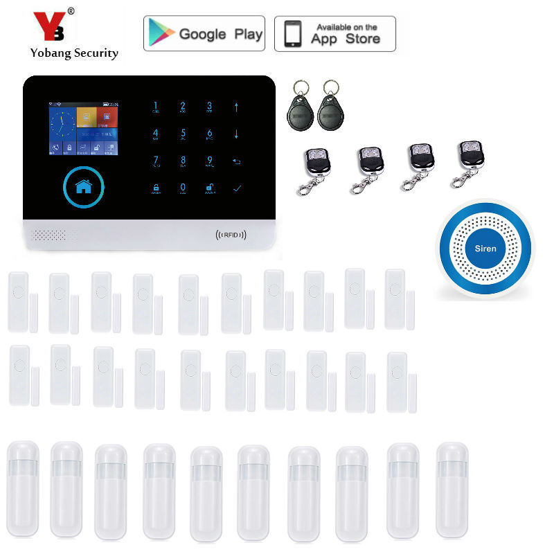 Yobang Security Wireless SMS Home wifi GSM font b Alarm b font system House intelligent auto