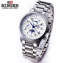 Binger top sell new Men's military watches sports multi outdoor wristwatches Army moon calendar Watch Automatic Mechanical