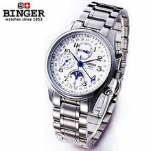 Binger superior vender nuevos hombres militar relojes deportivos multi al aire libre relojes de pulsera ejército reloj mecánico automático calendario lunar