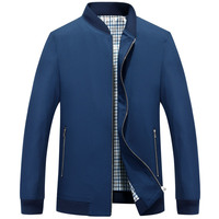 The fall in men's coat collar collar jacket baseball male middle aged men in elderly leisure