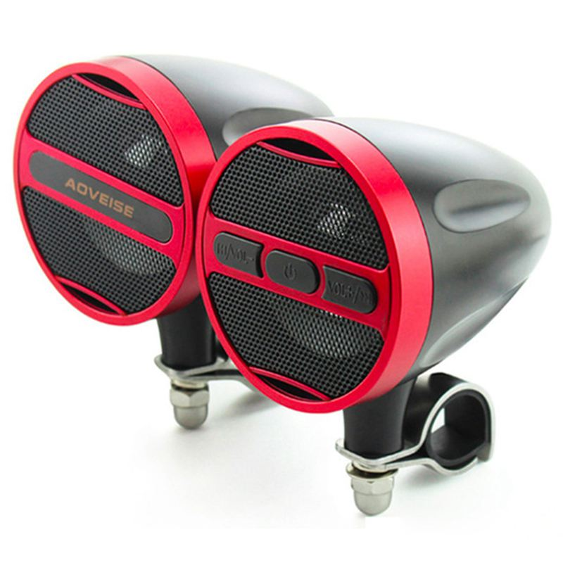 AOVEISE 3inch 40W MP3 Music audio Player Bluetooth Speakers for Motorcycle Waterproof portable Stereo with FM