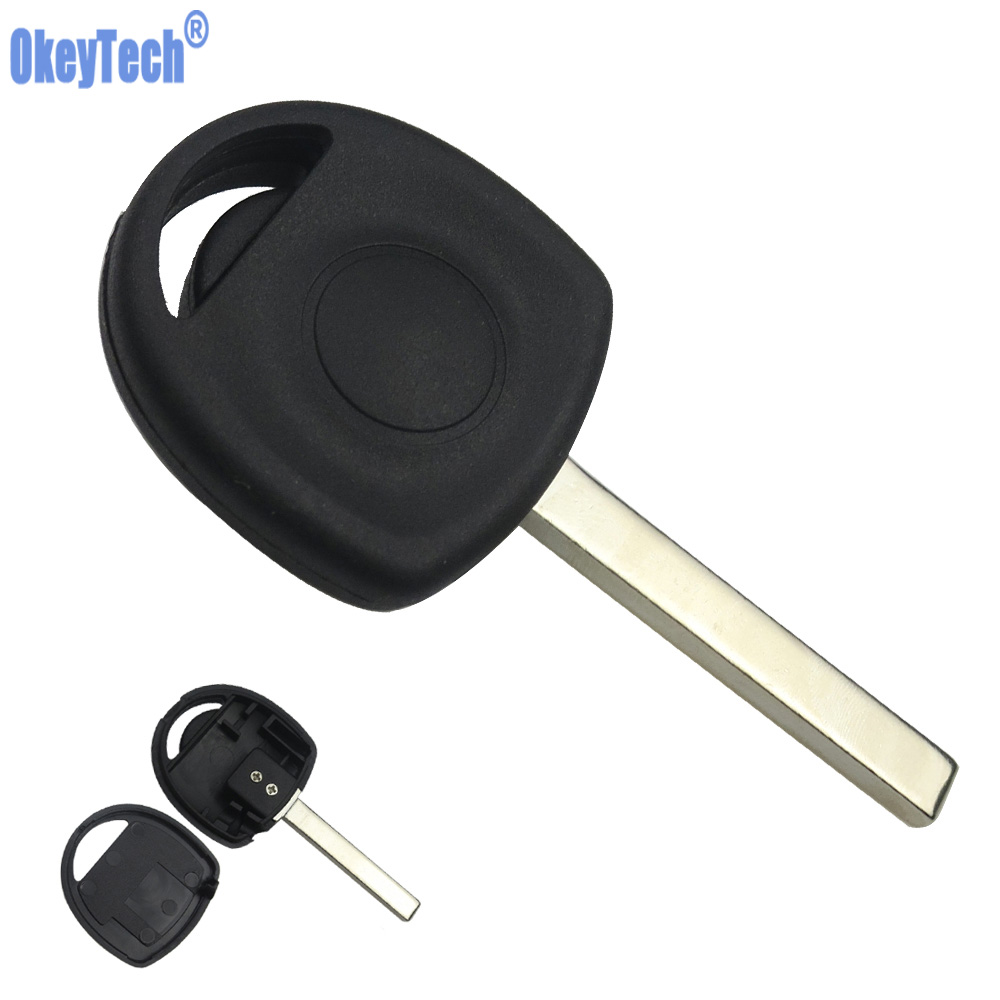 OkeyTech Car Transponder Key Case Shell Fob for Vauxhall Opel Key Uncut HU100 Blade Blank Replacement Auto Transponder Key Cover free shipping transponder key blank hu43 blade for tpx chip for opel 10piece lot