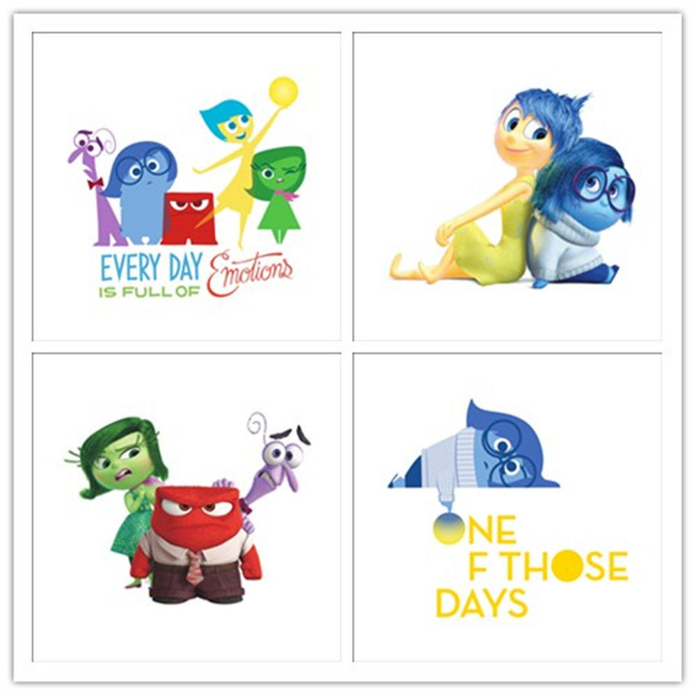 Inside Out joy/sadness/fear/disgust/anger Wall sticker