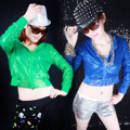 Special Offer Felmale Hiphop Costume Sequin Zip Hooded Jacket Women Glitter Sequin Jackets Stage Singer Suit Outwear
