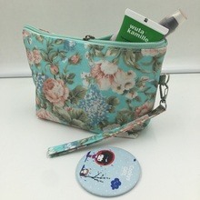 New Vintage Floral Printed Women Cosmetic Bag