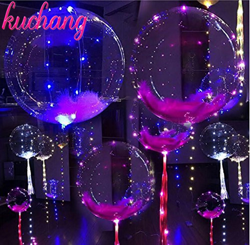 Home & Garden 18 Inch Luminous Led Balloons 3m Led String Lights Round Bubble Orbs Birthday Party Decorations Kids Air Balloons Ballon Orders Are Welcome. Ballons & Accessories