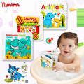 Waterproof Kid Playing Bath Toys Baby bath book Learning Animal Speaker Books EVA book Paddle Early childhood Educational Toys