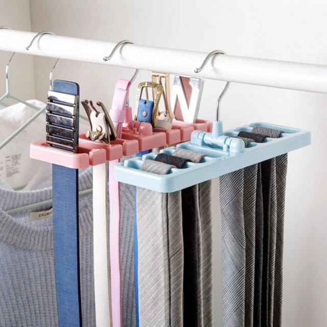 Storage Rack Tie Belt Organizer E Saver Ties Hanger Holder Hook Closet Organization Tank Tops Bra Belts Bag