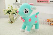 middle cute plush blue deer toy lovely cartoon sika deer doll gift about 35cm