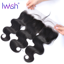 Iwish Body Wave Human Hair 13×4 Inch Ear To Ear Lace Frontal Closure Free Part 130% Density Hand Tied Remy Hair 1 Piece