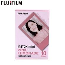 Fujifilm Fuji Instax Mini 8สีชมพูกรอบแผ่นฟิล์ม10แผ่นสำหรับ11 7 7S 8 9 50S 7S 90 25หุ้นSP 1 2 3กล้อง