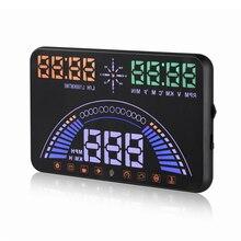 5.8 «Цифровой автомобиль спидометр Автомобиля Head Up Display OBD2 С Anti-slip Pad GPS Спидометр HUD S7 # iCarmo