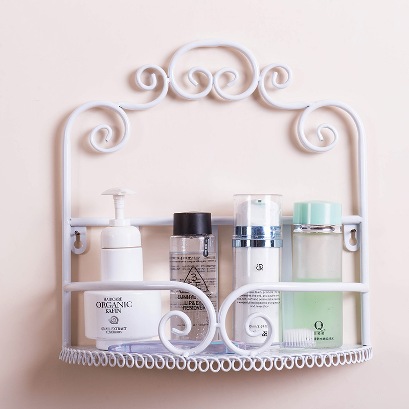 Высокое качество Железные украшения стены хранения стойки для ванной косметических продуктов срок хранения держатель аксессуары для ванн...