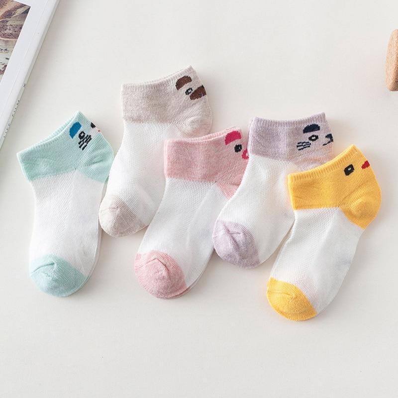 10Pcs/5Pairs Children Sock Breathable Sports Girls Boys Sokcs Unisex Cotton Stripe Chaussette Enfant Garcon Skarpetki Dla dzieci 5