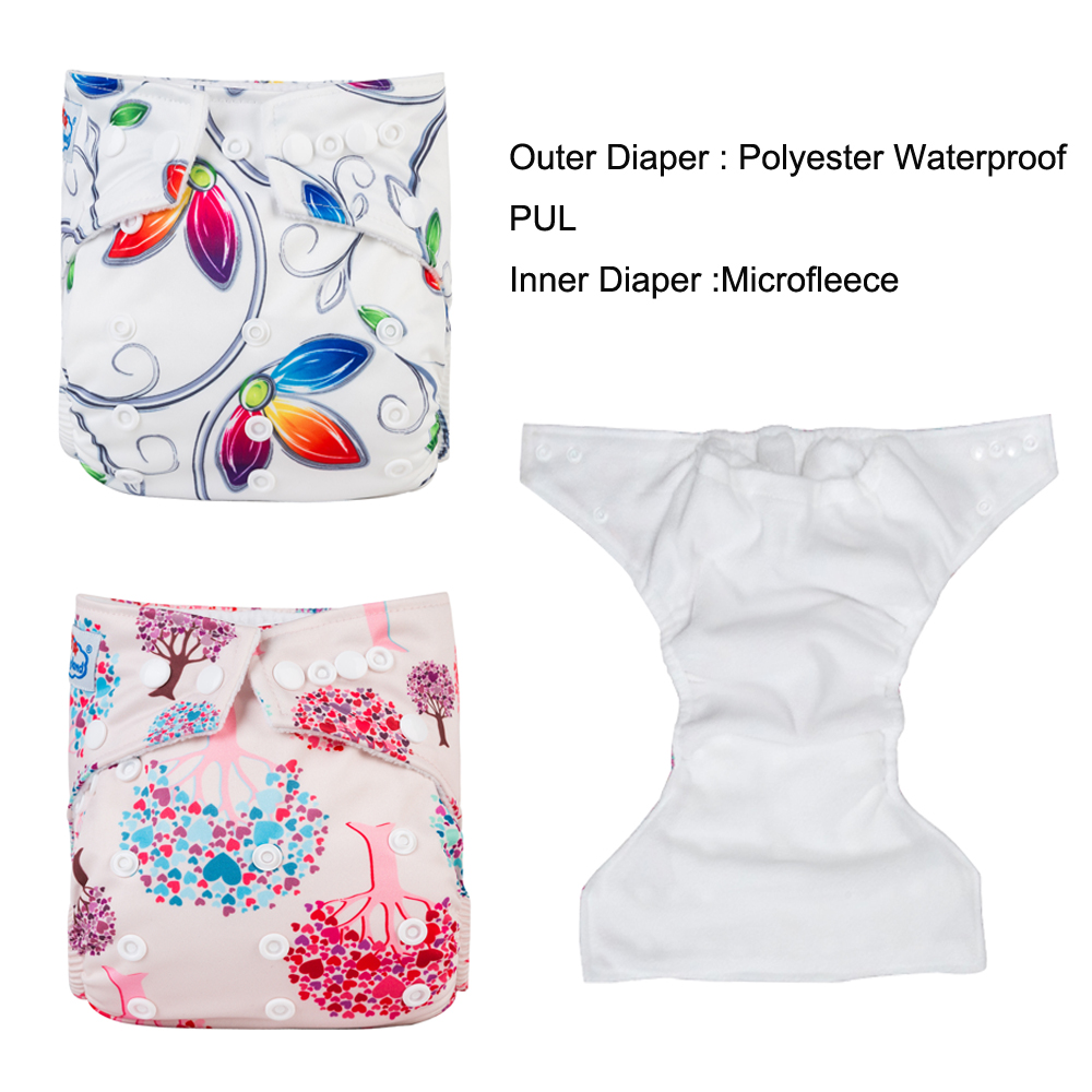 Express Shipping 60pcs A Lot My Choice Prints Babyland Cloth Diaper Waterproof Baby Diapers Reusable Nappy