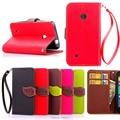 Para nokia 530 folhagem de alta qualidade carteira flip caso capa de couro tampa do telefone com suporte de cartão para nokia lumia 530 para nokia530