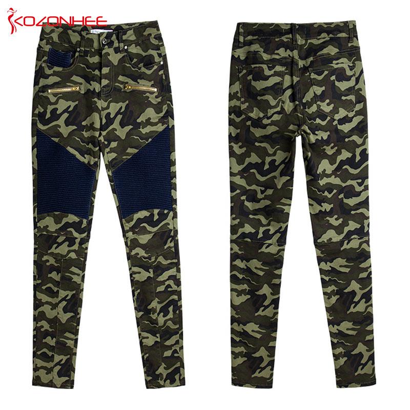 Fashion Stretch Camouflage Pencil jeans Woman Plus Size Elasticity Camo women Skinny Jeans #45 Jeans Women Bottom ! Plus Size Women's Clothing & Accessories