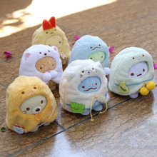 6 шт. Сан-х sumikkourashi мягкие животные плюшевые брелоки игрушка Sumikko плюшевая обувь мантия мультяшный кулон куклы девушки подарок 8 см