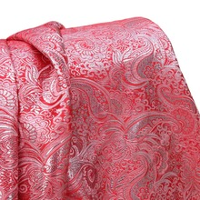 1Yard 91*148cm,Shining Jacquard Paisley Brocade Fabric,Width:148cm,Wedding Skirt Fabric Tecido,Russia Dancing Dress Sewing Cloth