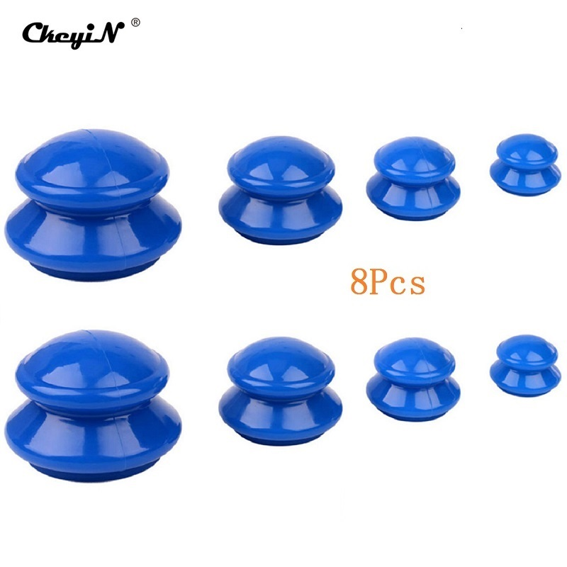 8 PCS Vácuo Cupping Latas Conjunto de Ventosas de Silicone Cuidados Com a Saúde Massager Relaxamento Muscular Emagrecimento Medicina Chinesa Beleza 44